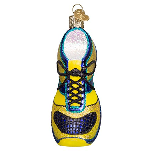 Old World Christmas Running Ornaments:Running Shoe Glass Blown Ornaments for Christmas Tree