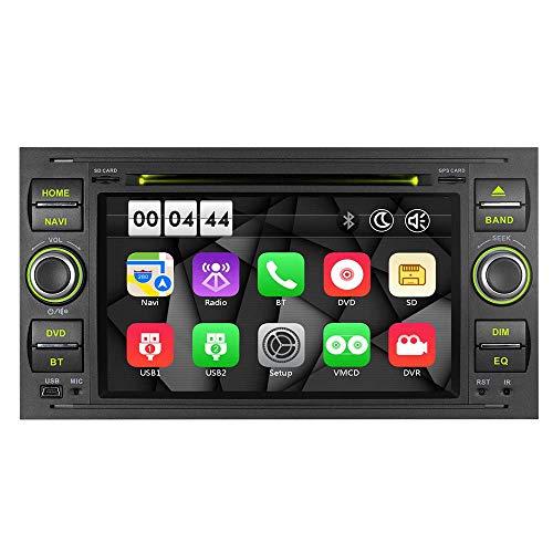 """7\"""" AUTORADIO MIT 3G DVD GPS Navigation USB SD Bluetooth Autoradio CD Moniceiver+Bluetooth+ Dual Zone+Subwoofer+DAB+Mirrorlink+VMCD Für Focus Transit C/S-Max Fiesta Farbe: Schwarz"""