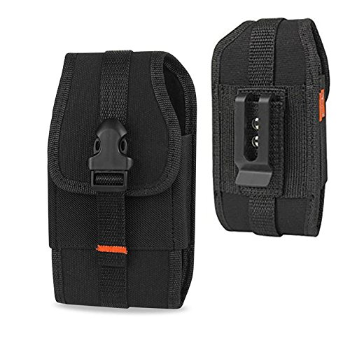 Reiko Plus Size Rugged Nylon Pouch Case for Iphone 8 Plus / Iphone 7 Plus / 6 Plus W/ Belt Loop and Clip W/ Card Pocket and Zoomazig Stylus