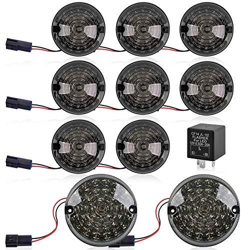 Rockfoxx - Luci LED per retromarcia, colore grigio fumo, per Land Rover Defender