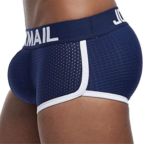 in budget affordable JOCKMAIL Breathable Mesh Thigh Padding Sexy Men's Boxer Shorts Removable Decoration 2…
