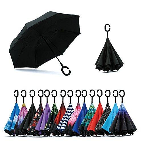 Jooayou Parapluie Inversé, Anti-UV Double Couche...