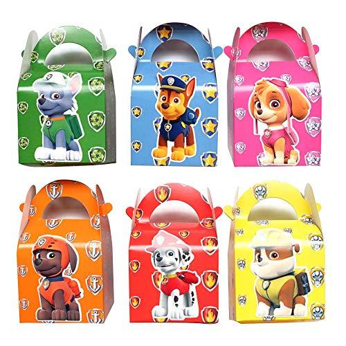 KRUCE 24 PC Paw Dog Patrol Party Cajas de Regalo, Cajas de Dulces, Cajas de Dulces para niños Suministros para Fiestas de cumpleaños