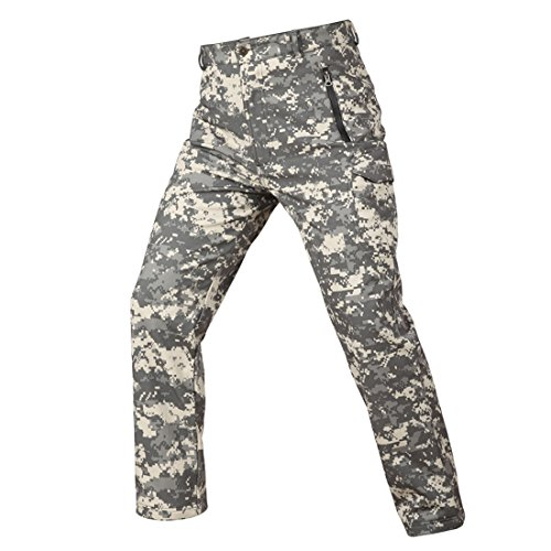 MagCOMSEN fleece gevoerde softshellbroek voor heren, waterdicht, functionele broek voor buiten, bergbroek, skibroek, trekkingbroek, wandelbroek, klimbroek, herfst winter