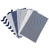 生地 綿 布セット 可愛い 花柄 5枚 手芸用 縫製用 DIY手作り 裁縫DIY手作り パッチワーク 布 縫う手作り手芸 多機能 通気性 柔らかい 手作り 裁縫(ブルー-2)
