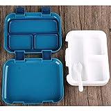 LFDHSF Estudiante Plástico Lonchera Almuerzo Comida Bento Box Empleado de Oficina Aislamiento Box-5 Cells-800Ml