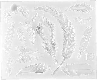 Kökstillbehör silikonform full spegel epoxiform moln fjäder rosett silikon fondant form för tårta dekoration choklad lera