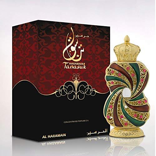 Al Haramain Perfumes Tanasuk Aceite de perfume, paquete de 1