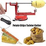 Loopunk Potato Twister Spiral Potato cutter Manual Stainless Steel Slicer Machine For Fruit