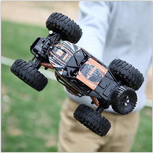 Liiokiy RC Car 2.4GHz Radio Control Remoto Coche Hobby Eléctrico Rock Crawlers Monster Truck Pies Grandes Aleación 4WD para Niños Y Adultos Niños Niños Negros Regalos Regalos Toy Cumpleaños Regalo