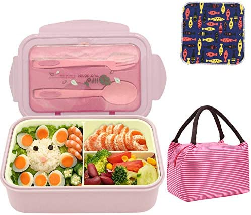 Bento Boxes Leakproof Food Containers for Kids Adults 1400ML BPA Free and Food Safe Cute Meal product image