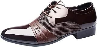 Charku メンズ レザー ビジネス 通勤 シークレットシューズ メンズ ビジネスシューズ 紳士靴 革靴 高級靴 レースアップ 軽量 履きやすい ドレスシューズ 靴 通気快適 オールシーズン プレーントゥ メンズビジネスシューズ ウォーキングシューズ