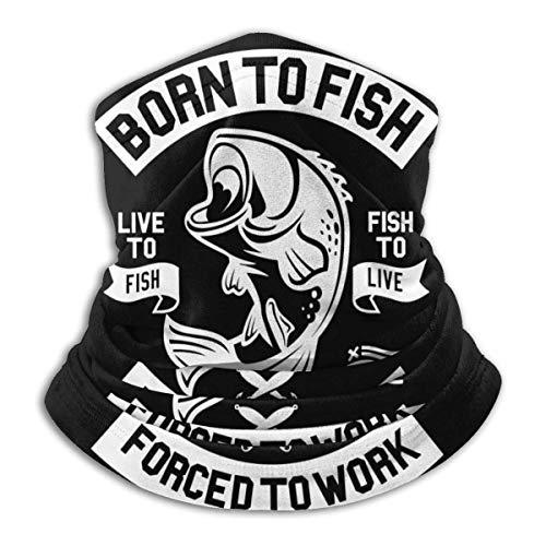 B-orn zu Fi-sh YANXCHEN-Hals-Gamaschen-Kopfbedeckung, Gesichts-Sonnen-Masken-Magie-Schal-Bandana-Sturmhauben-Stirnband für das Radfahren-Fischen-Motorradfahren, das das Skateboard fahren läuft