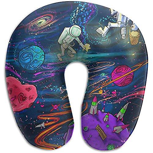 Almohadas para Cuello,Hermosa Galaxia Espacio Exterior Y Astronauta Almohada De Viaje En...