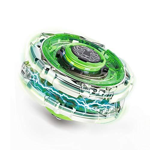 Innoo Tech 1 Stück Kampfkreisel Set, 4D Fusion Modell Metall Masters Beschleunigungslauncher, Speed Kreisel, tolles Kinder Spielzeug(Grün)