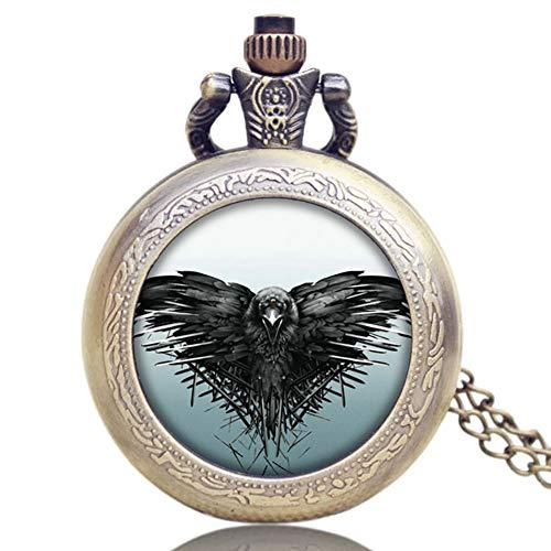 Jungen Taschenuhr, Game of Thrones Theme EIN Lied von EIS und Feuer Vintage Cool Chain Taschenuhr, Anhänger Halskette Geschenk für Männer
