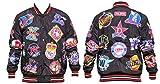 Big Boy Gear Negro League Team Logo Collage Screenprint on Satin Snap Baseball Jacket, 4XL