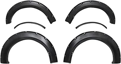 Premium Fender Flares for 2015-2017 Ford F150 Styleside Models | Smooth Matte Black Paintable Pocket Bolt-Riveted Style 4pc | NOT Compatible with Technology Package 68T Including Lane-Keeping sensors