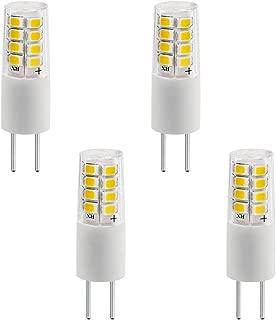 LXcom 2.5W G4 LED Light Bulb G4 Dimmable LED Bulb 12V LED Bulb Lighting(4 Pack)- Daylight White 6000K 30W Halogen Bulb Equivalent G4 Base LED Light for Landscape Lighting Under-Cabinet Lighting