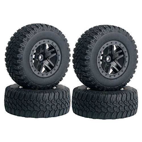 1:10 Short Course Truck Tyres Tire and Wheel Rim for 1/10 Short-CourseTraxxas Slash HPI RC Model Car Parts