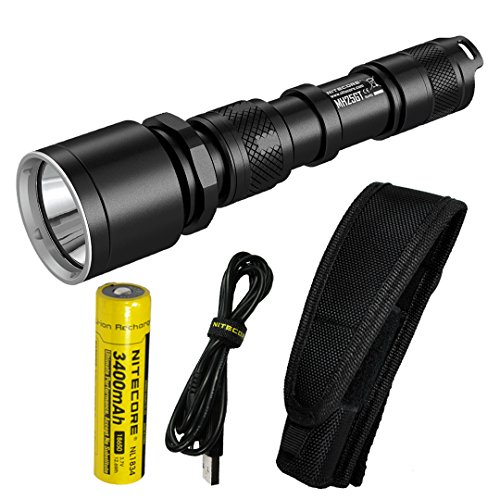 Nitecore MH25GT 1000 Lumen USB Rechargeable LED Flashlight - Long Range Throwing with Lumen Tactical Adapters (Upgrade for MH25)