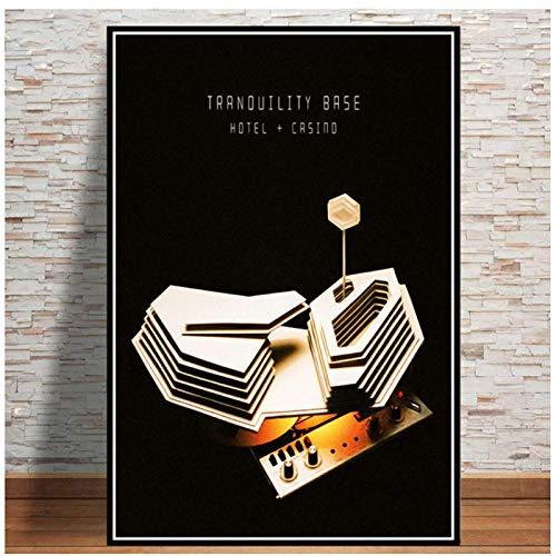 kingxqq Poster und Drucke Arctic Monkeys Music Band Zitat Poster Wandkunst Bild Leinwand Malerei Für Room Home Decor-40x60 cm Kein Rahmen