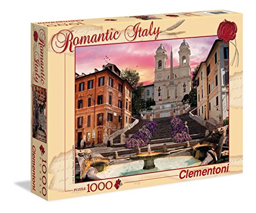 Clementoni 39219 - Puzzle Romantic Italy - Roma, 1000 Pezzi