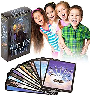 1 Box 78 Cards Witch Tarot Deck Future Fate Indicator Forecasting Cards Table Game AN88 Angel Oracle Cards Witch Cards