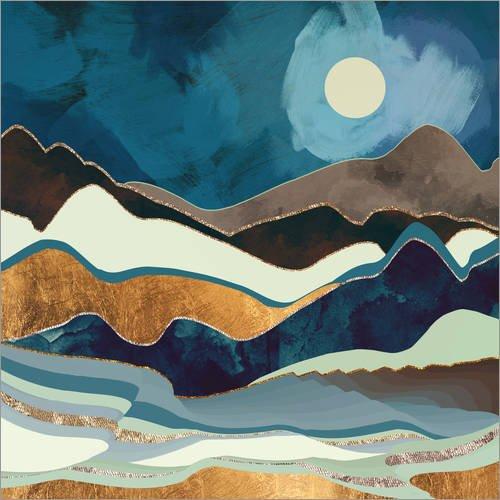 Posterlounge Cuadro de metacrilato 100 x 100 cm: Autumn Hills de SpaceFrog Designs