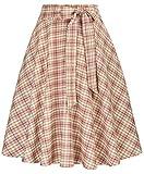 Belle Poque - GF560 - Falda plisada estilo años 50, con bolsillos, ideal para fiestas, cócteles