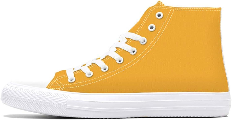 HhGold HhGold HhGold Mens Casual Schuhe Frühling High Top Canvas Benutzerdefinierte 3D Gedruckt Jugend Feste Männer Turnschuhe (Farbe   Gelb, Größe   9.544 EU)  963d0c