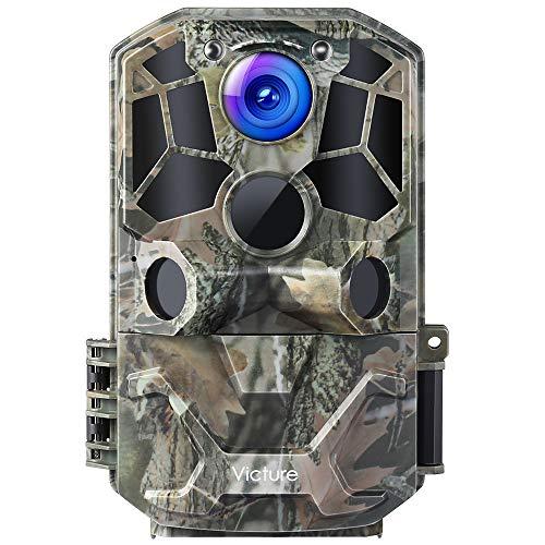 Victure WiFi 30MP 1296P Caméra de chasse 36 LEDs avec Angle de Surveillance de 120°et Détecteur de Mouvements Vision Nocturne Infrarouge