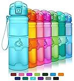 Grsta Botella de Agua Deportiva -400ml/500ml/700ml/1000ml- Sin BPA & a Prueba de Fugas, Reutilizable de plastico tritan, Agua Botellas Ideal con Filtro para niños para niños, Correr, Gimnasio