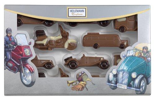 ハイレマン社 クラッシックカー・高級ミルクチョコレート、1パック(100g)