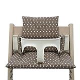 Blausberg Baby - coussins set (enduit) pour chaise haute Stokke Tripp Trapp - réducteur de siège - coussins d'assise - taupe...