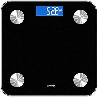 DKEyinx N2334 Smart Body Fat - Báscula digital (Bluetooth, pantalla LED, 13 índices)