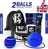 Revo Fight Upgraded Boxing Reflex Ball, Premium Headband + 2 Difficulty Levels Punch Balls on String, Boxing Equipment for Kids/Adults to Improve Reaction, Punching Speed, Hand-Eye Coordination
