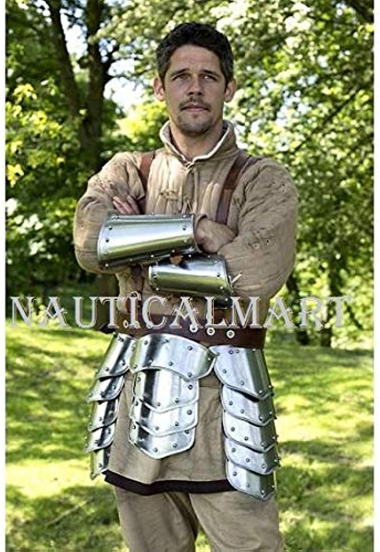 NauticalMart Functional Knight Steel Tassets Belt With Arm Bracers  Halloween