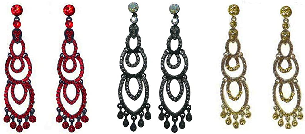 Bella Chandelier Dangle Max 61% OFF Earrings For Ears CE890125-611-03 Pieced Baltimore Mall
