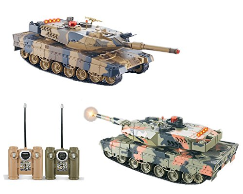 2-Set Main Battle Tanks RC 1/24 Infrared LED Tank R/C US MBT