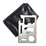 11 in 1 Function Credit Card Size Survival Pocket Tool, Multi-Tool - 2 Pack