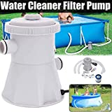 DER Clear Cartridge Filter Pump for Above Ground Pools,Electric Swimming Pool Filter Pump for 100-350GAL Above Ground Pools Cleaning Tool (Electric Swimming Pool Filter Pump)