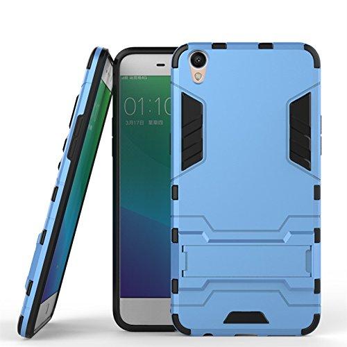 ZHIWEI Das tragbare Handy Tasche Für Oppo R9 Plus Standhalter-Handygehäuse, robuste Kickstand-Rückseite, Schutzhülle (Color : Blue)