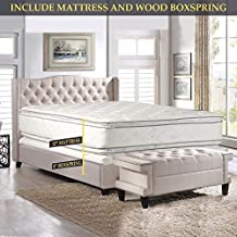 Nutan 12-Inch Medium Plush Double sided Pillowtop Innerspring Fully Assembled Mattress And 8