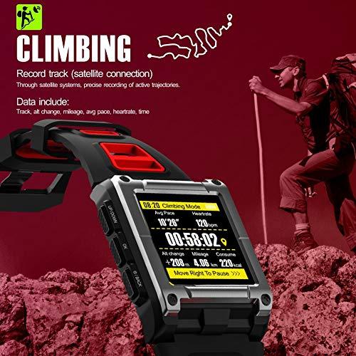 Opta SB-057 Aluminium-Alloy Heart Rate Monitor Smart Watch (Black)