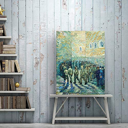 Santangtang Impressionistisch schilderij. Gevangenaffiche van de beroemde schilder. Schilderij zonder lijst op canvas.