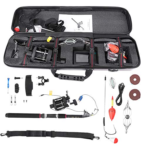 Underwater Fish Finder Visual Anchor Device Camera Fishing Reel Pole Float Fish Hook with Float with Storage Case for Ice Lake Sea Boat Kayak Fishing