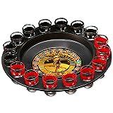 ASFD 16 agujeros de la ruleta rusa juego de tocadiscos para jugar con amigos, juego de mesa de vino, entretenimiento, juguetes divertidos, multicolor