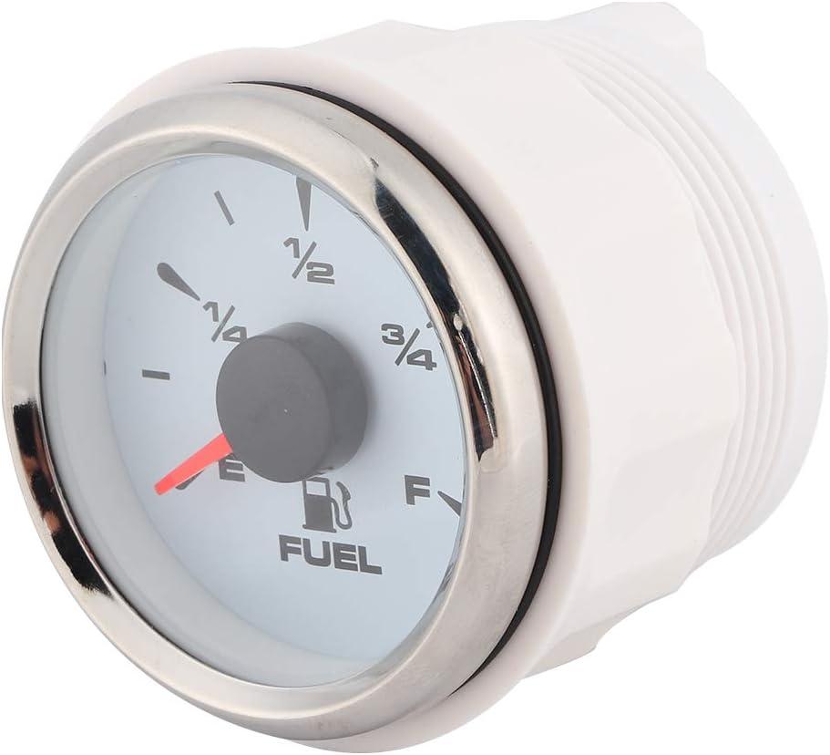 2in 190ohm jauges de niveau de carburant affichage num/érique 8 couleurs r/étro-/éclairage pour 12V//24V moto voiture Yacht blanc Qiilu Jauge de niveau de carburant