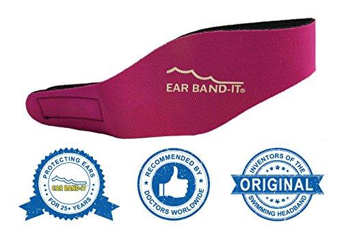 Kopfband / Ohrschutz für Schwimmer rose M